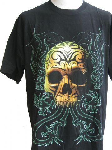 The Tattoo'd Skull T Shirt With Large Back Print